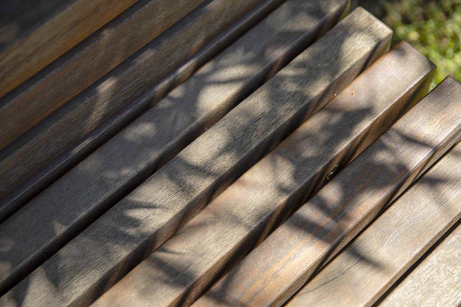 Up close shot of timber decking